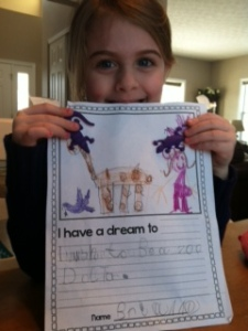 Dreams to become a zoo doctor...