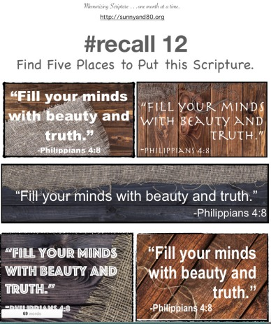 #recall 12 August memory verse cards