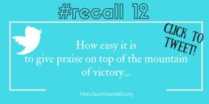 #recall12 July tweet 1